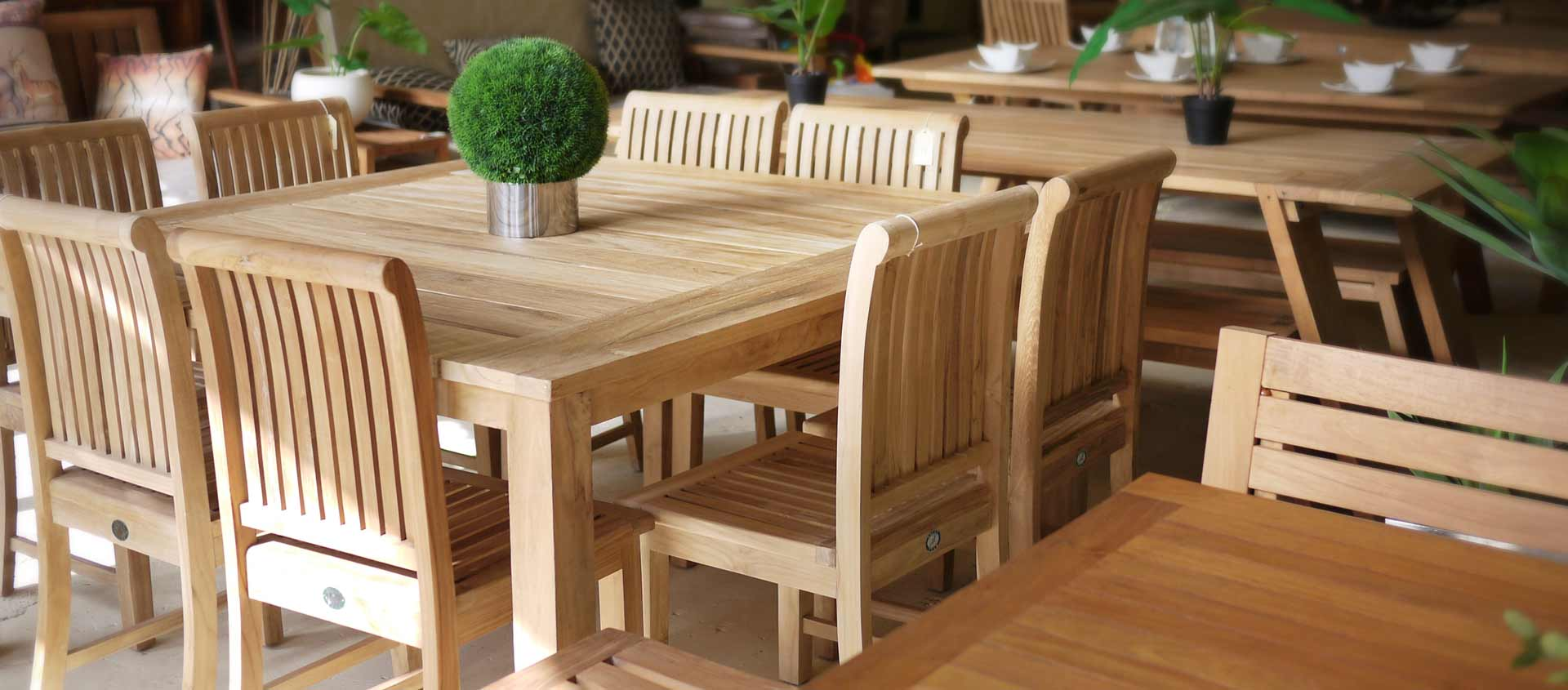 From 40 to 60 off selected beautiful teak items